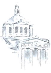 Drawing of the courthouse
